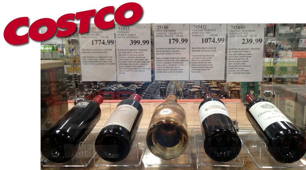 Costco Wine Display