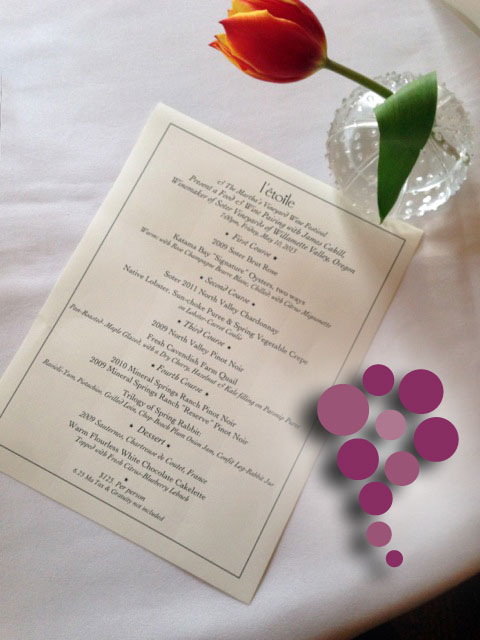 Martha's Vineyard – Soter's Dinner Menu