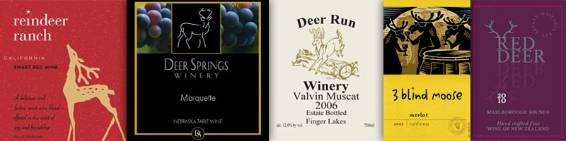 Wine With An Animal In The Name – Deer & Moose