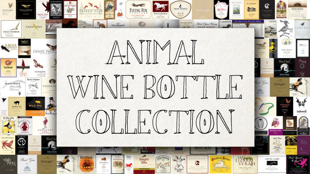 Animal Wine Bottle Collection